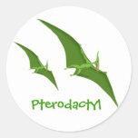Pegatina del dinosaurio del Pterodactyl