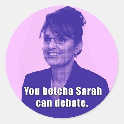 Pegatina del discusión de Sarah