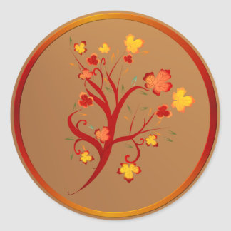 Pegatina del diseño del árbol del otoño