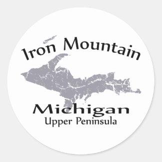 Pegatina del diseño del mapa de Michigan de la