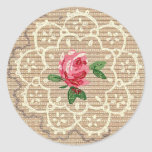 Pegatina del diseño del papel pintado del ganchill