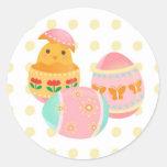 Pegatina del diseño del polluelo del huevo del