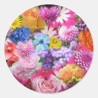 Pegatina del diseño del ramo floral