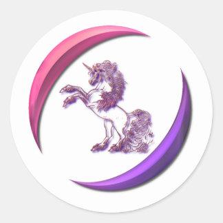 Pegatina del diseño del unicornio