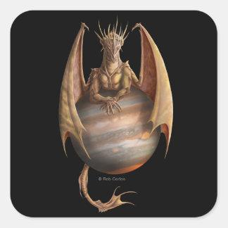 Pegatina del dragón de Júpiter