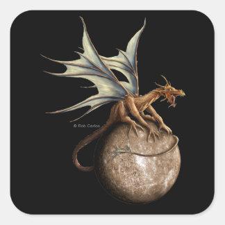 Pegatina del dragón de Mercury
