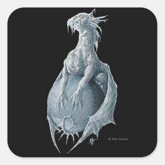 Pegatina del dragón de Plutón