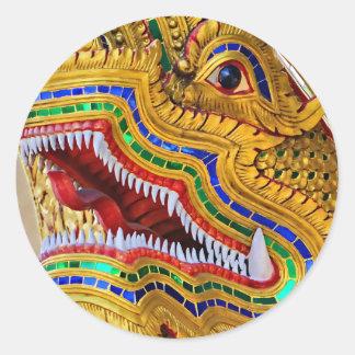 Pegatina del dragón de Wat Oopakoot