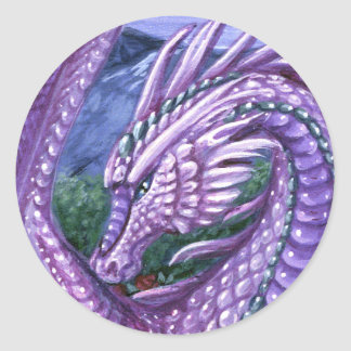 Pegatina del dragón del Alexandrite