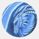 Pegatina del dragón del Aquamarine