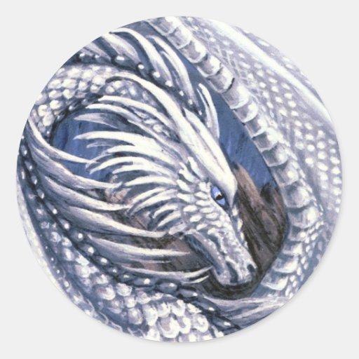 Pegatina del dragón del diamante