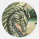 Pegatina del dragón del Peridot