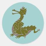 Pegatina del dragón verde