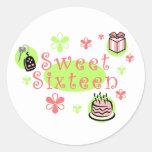 Pegatina del dulce dieciséis