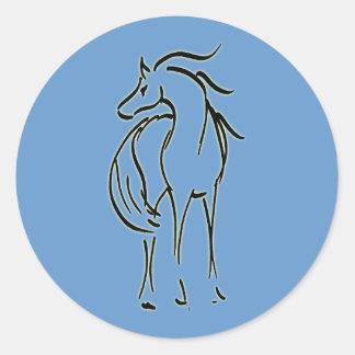 Pegatina del ejemplo del caballo
