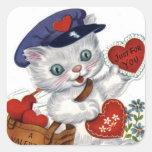 Pegatina del el día de San Valentín del arte del v