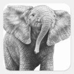 Pegatina del elefante africano del bebé