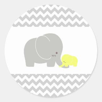 Pegatina del elefante del bebé