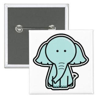 Pegatina del elefante del bebé pin cuadrada 5 cm