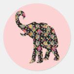 Pegatina del elefante del Hippie