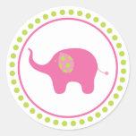 Pegatina del elefante rosado