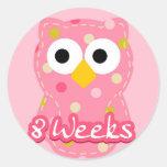Pegatina del embarazo - búho 8 semanas