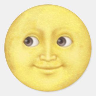 Pegatina del emoji de la luna
