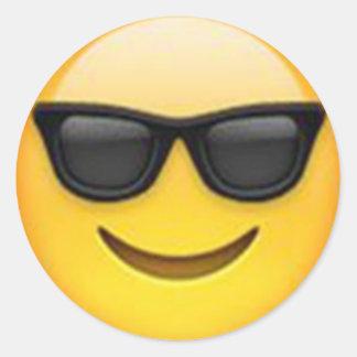 Pegatina del emoji de las gafas de sol