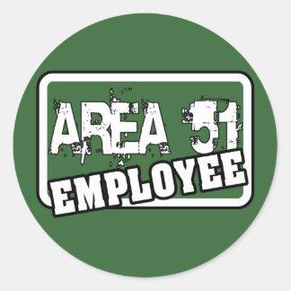 Pegatina del empleado del ÁREA 51