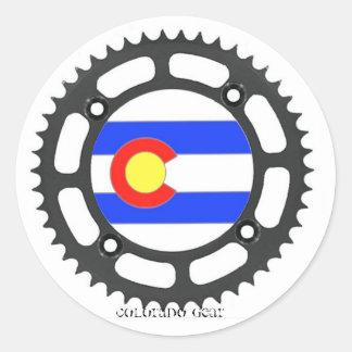 Pegatina del engranaje de Colorado