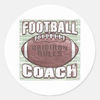 Pegatina del entrenador de fútbol