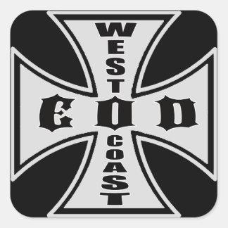 Pegatina del EOD de la costa oeste (negro)