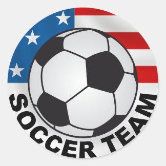 pegatina del equipo de fútbol de los E.E.U.U.