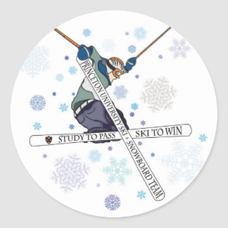 Pegatina del equipo del esquí