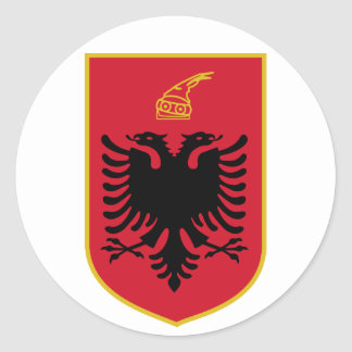Pegatina del escudo de armas de Albania