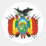 Pegatina del escudo de armas de Bolivia
