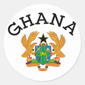 Pegatina del escudo de armas de Ghana
