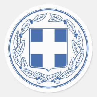 Pegatina del escudo de armas de Grecia