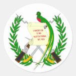 Pegatina del escudo de armas de Guatemala