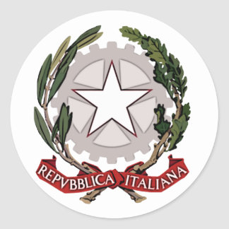 Pegatina del escudo de armas de Italia