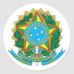 Pegatina del escudo de armas del Brasil