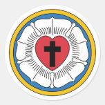 Pegatina del escudo de armas del Lutheran