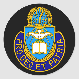 Pegatina del escudo de Army Chaplain Corp