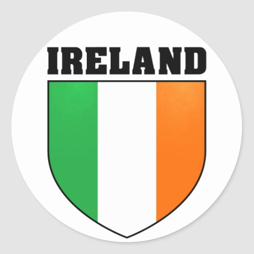 Pegatina del escudo de Irlanda