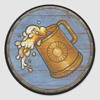 Pegatina del escudo de Viking - jarra de cerveza