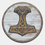 Pegatina del escudo de Viking - Mjolnir