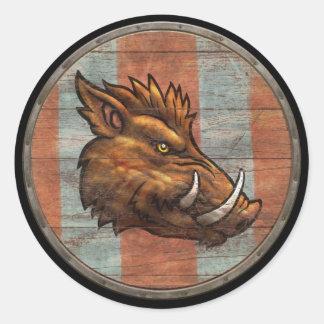 Pegatina del escudo de Viking - verraco