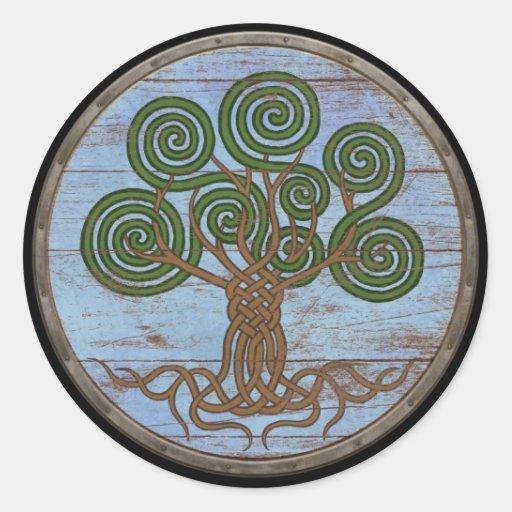 Pegatina del escudo de Viking - Yggdrasil