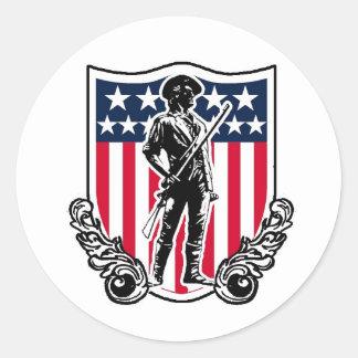 Pegatina del escudo del Minuteman