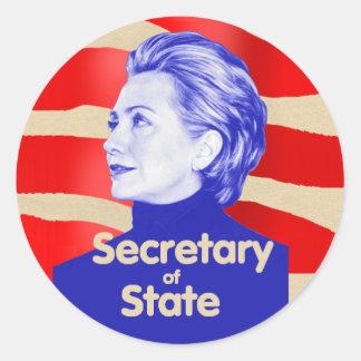 Pegatina del estado de Hillary